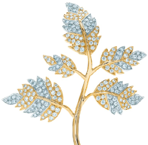 Five Leaves Clip. French jewelry designer Jean Schlumberger