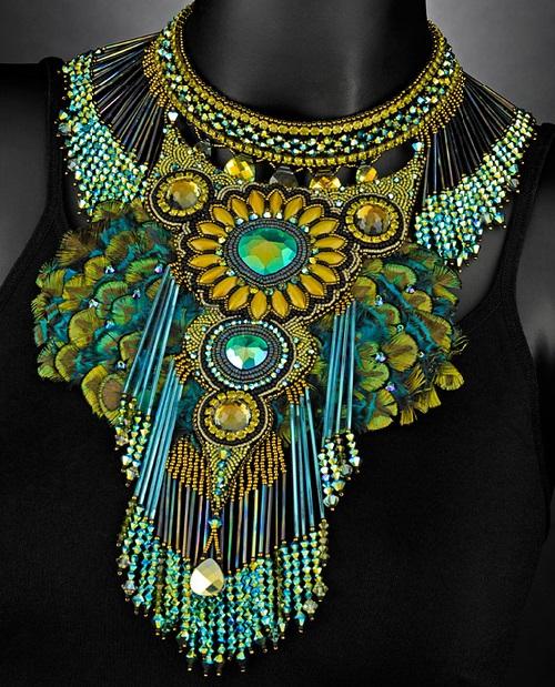 Bead Embroidery Art By Sherry Serafini Kaleidoscope Effect
