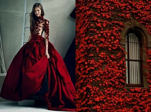 Marchesa Fall Winter 2012 & Red Leaves