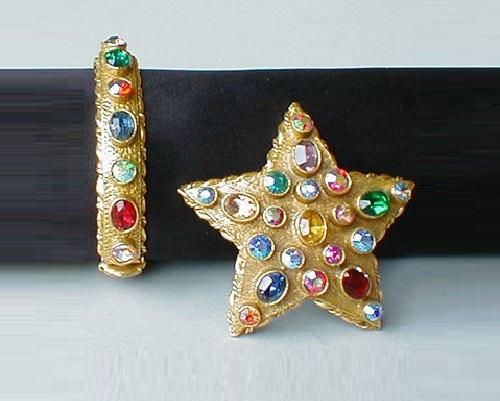 Brooch and bracelet