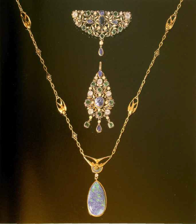 Brooch and pendant work of Arthur and Georgie Gaskin. 1900-1905