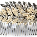 Crystals and pearls Hair Comb