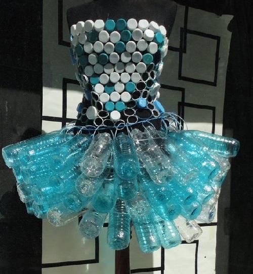trash dress picture ideas - Bottle cap fashion Kaleidoscope effect