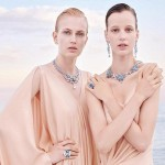 Fashion models promoting Van Cleef & Arpels jewelry collection Seven Seas
