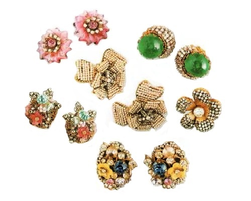 Vintage earrings and clips