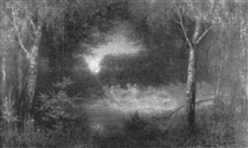 Nachtliche Szene mit Elfentanz, 1908. Oil on Canvas
