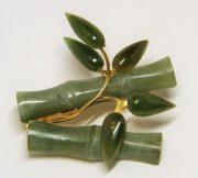 Bamboo branch brooch