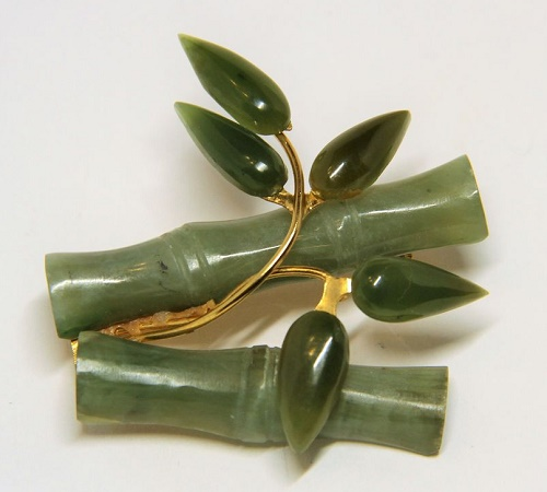 Bamboo branch brooch