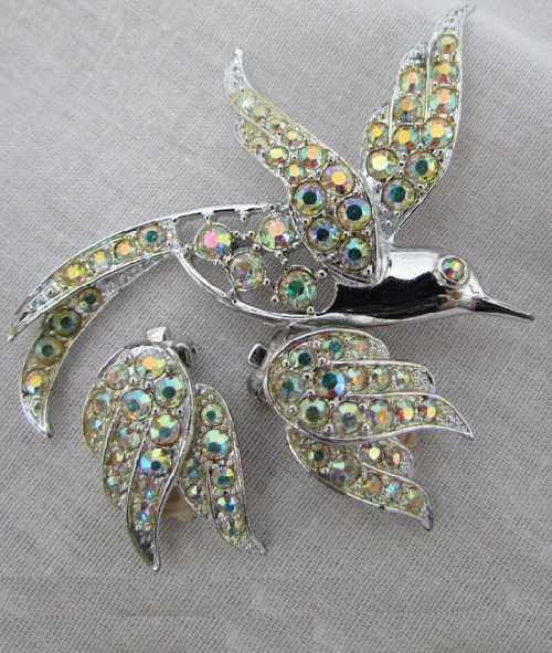 Birds of Paradise Brooch and clips, 1965 – 1970