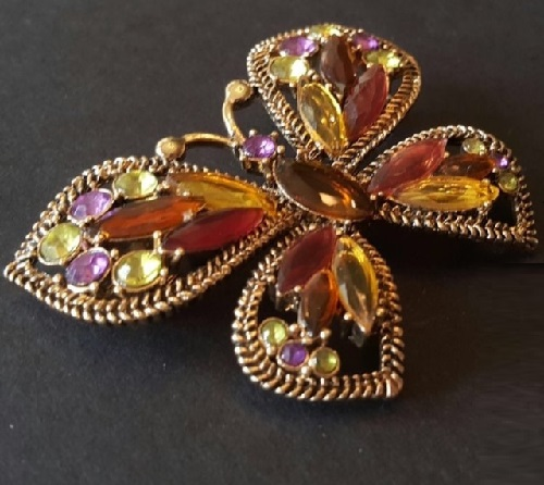 1970s Butterfly brooch