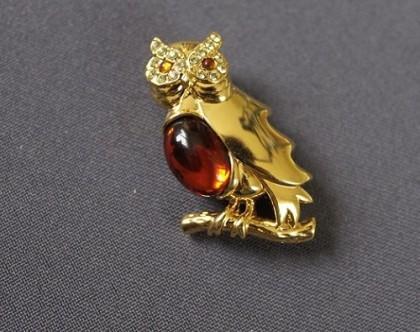 Owl brooch. 1970s