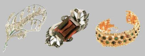 Series of vintage brooches