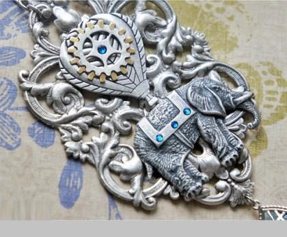 Anna Kapustina Steampunk jewellery