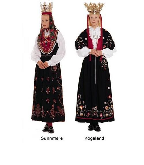 Varieties of Norwegian Bunad