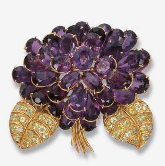 Violet brooch