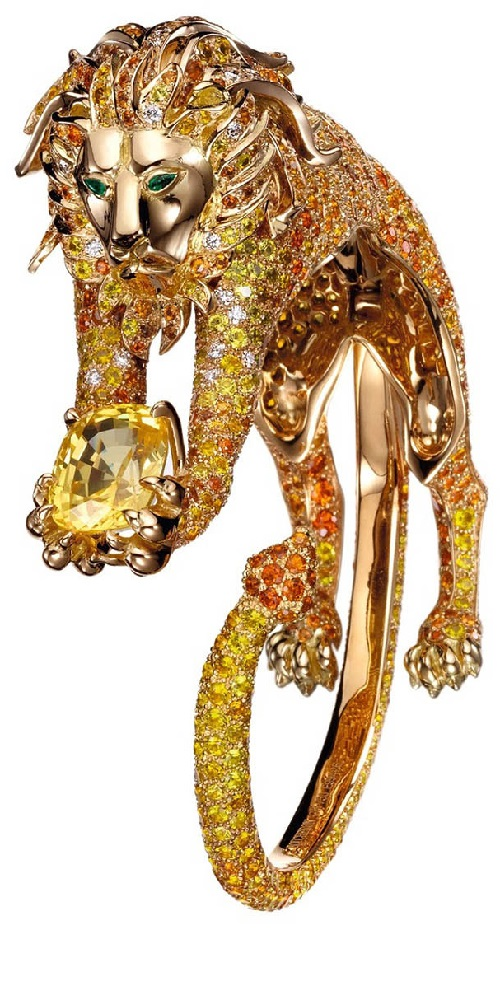 ef40eb494f09cb Yellow diamond ring Lion - Kaleidoscope effect