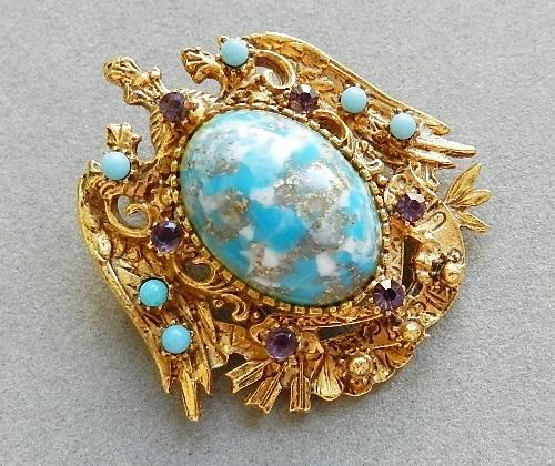 1980s brooch