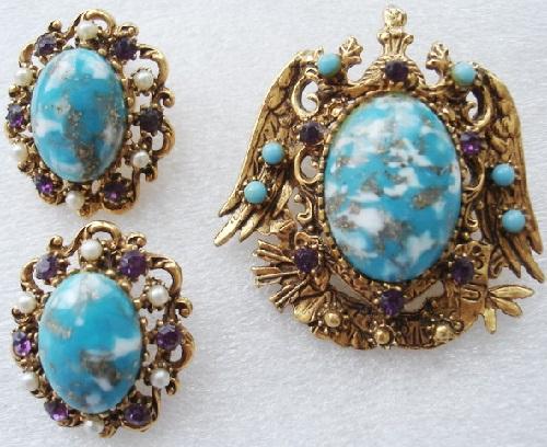 Heraldic vintage jewellery