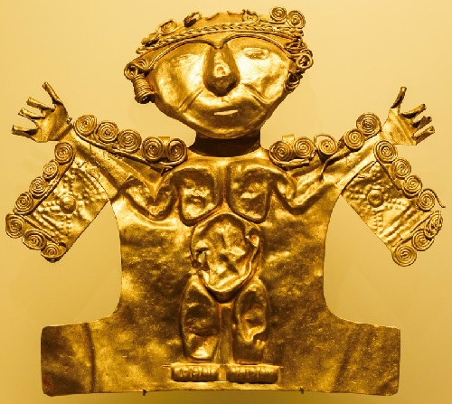 Gold jewellery exhibited in Gold Museum. Bogota, Colombia (5)