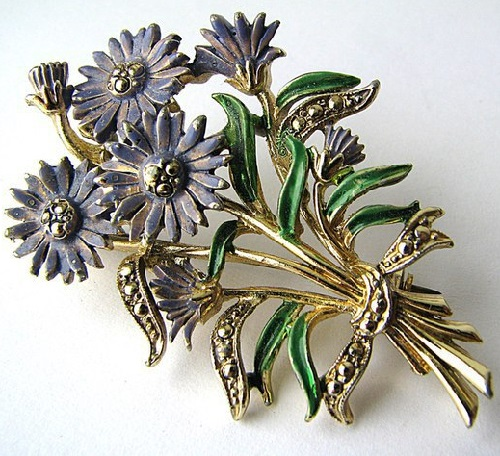 Aster Vintage Brooch Labeled Exquisite