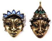 Balinese masks brooches. 1945
