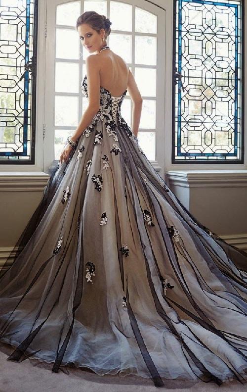 Black Wedding Dress 2 Kaleidoscope Effect