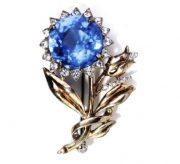 Blue sunflower brooch. 1943