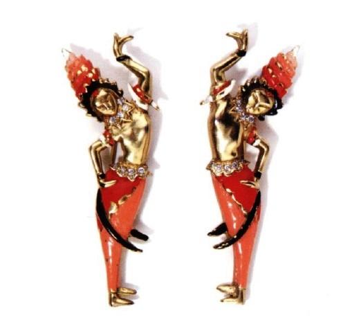 Cambodian dancers by Deja. 1939