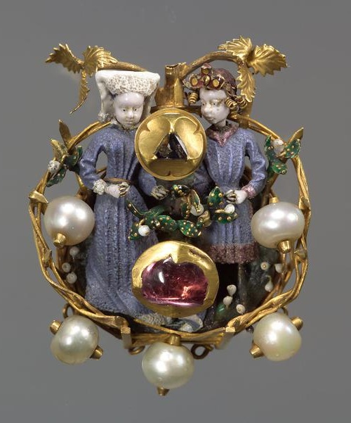 Mary And Maximilian Love Brooch Kaleidoscope Effect