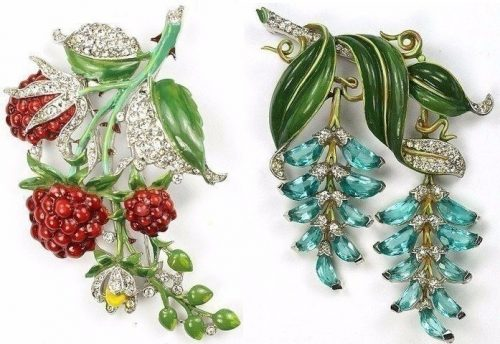 Exquisite Brooches by French designer Alfred Philippe for Trifari, 1940s