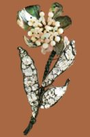 Flower brooch. Metal, shells, artificial pearls, glass, transparent rhinestone. The end of the 1990s. 20 cm. £ 180-200 CRIS