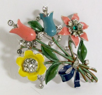 Bouquet brooch, vintage 40s