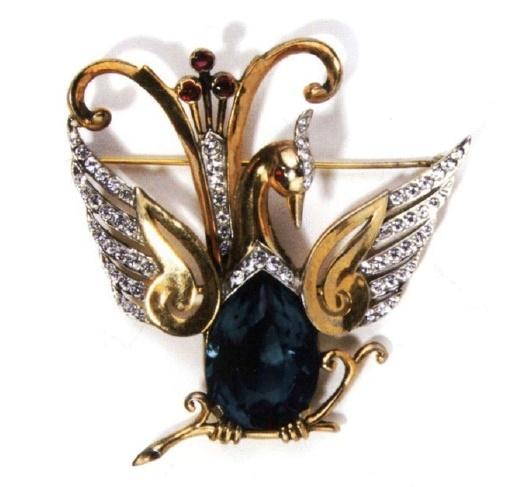 Lyre bird brooch. 1945