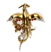 Phoenix bird brooch. 1945