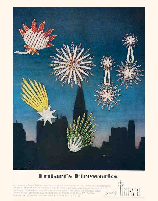 The spirit of the season. Fireworks, vintage ads