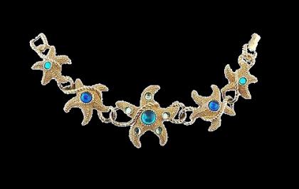 Sea stars Trifari bracelet