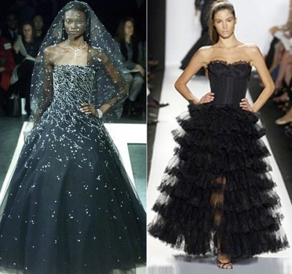 Vera Wang black wedding dress (1