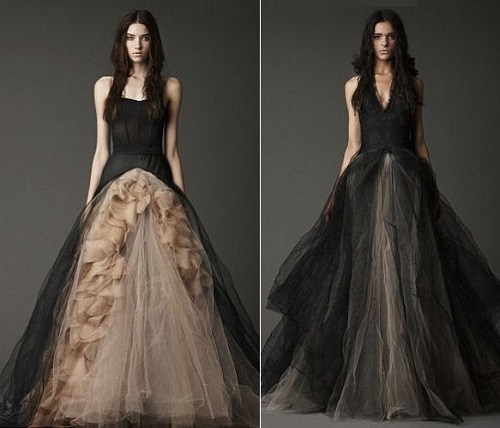 Vera Wang Black Wedding Dress 2 Kaleidoscope Effect