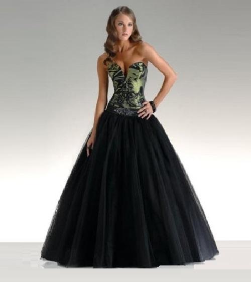 Vera Wang black wedding dress (3) - Kaleidoscope effect