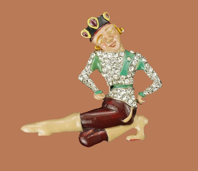 Vintage brooch Dancer
