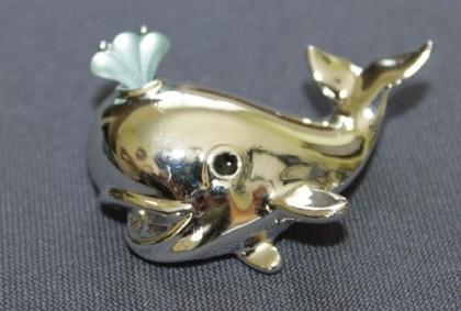Whale vintage brooch. 1980-1985