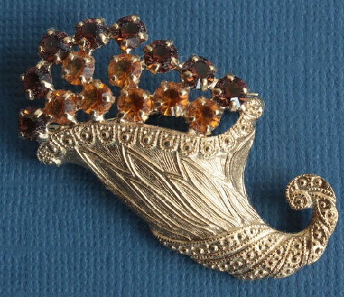 1960 Horn of Plenty Brooch from B. David