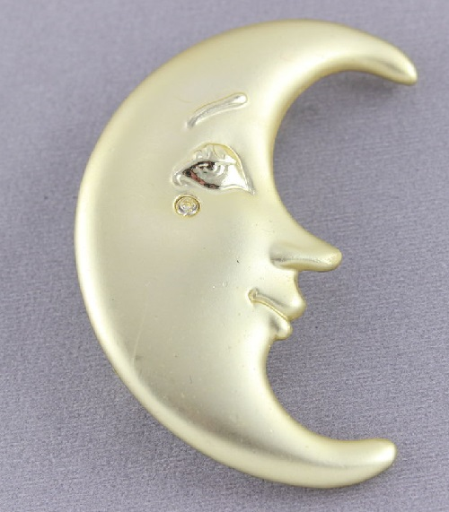 Moon Vintage Brooch