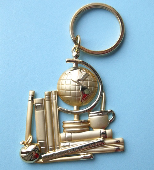 A key-ring for a student or a Geography teacher