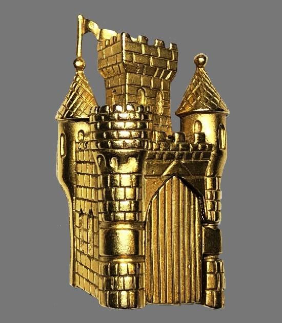Castle brooch. 1980s