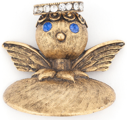 Angel, shoulder brooch by Tortolani, 1960s