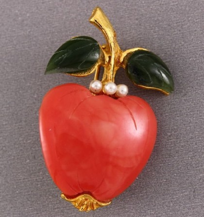 Apple Collectible vintage brooch, KJL