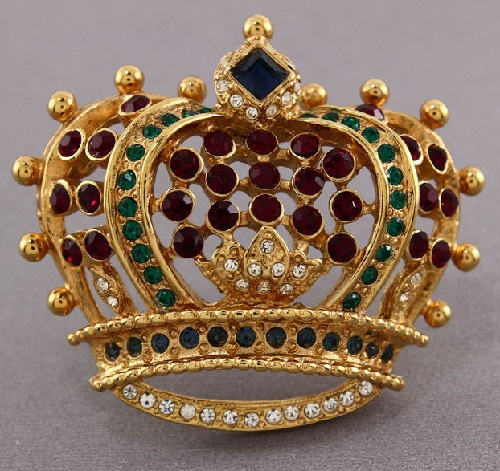 Crown brooch Collectible vintage. KJL