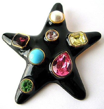 Star brooch Collectible vintage, KJL