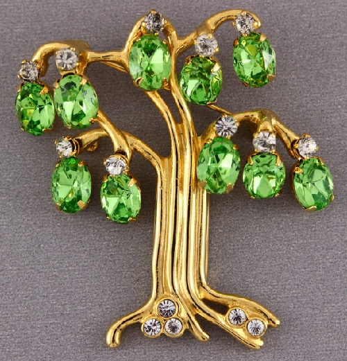 Tree of Life Collectible vintage brooch. Kenneth Jay Lane